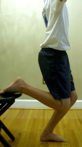 Rectus Stretch Position From Chair