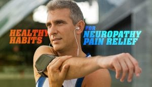 neuropathy pain relief stretching man