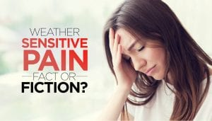 woman with chronic pain weather sensitive pain